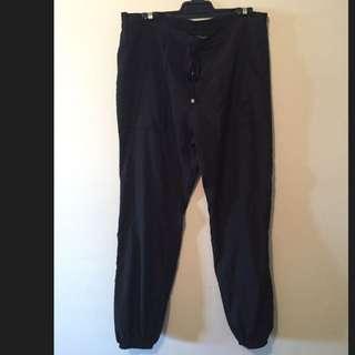 CHARLIE BROWN Size 12 Black Drawstring Pants