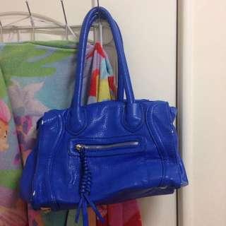 時尚寶藍長提包包