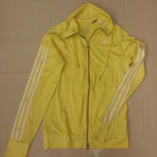 Adidas 運動外套 亮黃