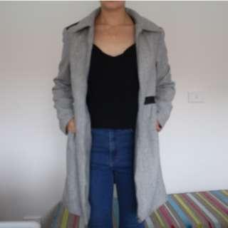 Grey Woollen Coat