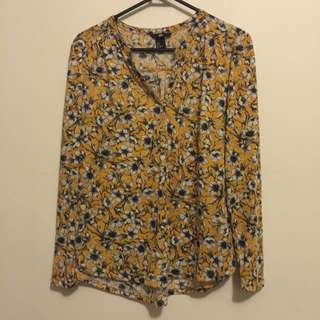 HnM Floral Top Size S