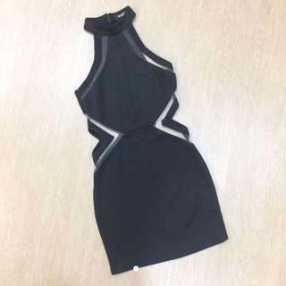 Misguided Mesh Cut Dress