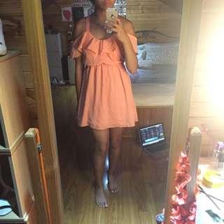 TOBI Pink Size 8 Off Shoulder Dress