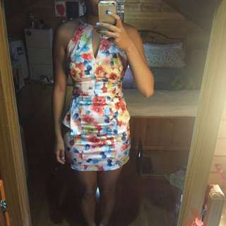 Floral Party Dress Size 8
