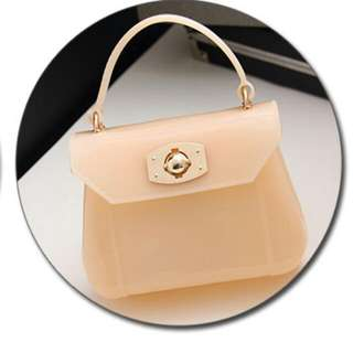 Brand New Jelly Sling Bag (Color: Peaxh)