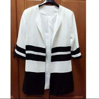 條紋氣質外套