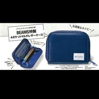 BEAMS 卡片收納包 手拿包 短夾 皮夾 卡片包
