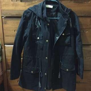 近新~藍色風衣大衣外套