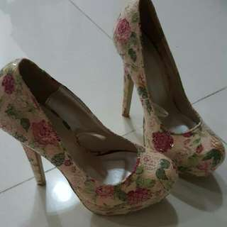 Floral High Heels From Forever 21