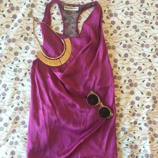 Velvet Tanktop In Purple