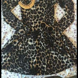 Leopard Long Sleeved Dress