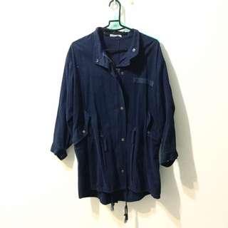 韓系深藍色大衣