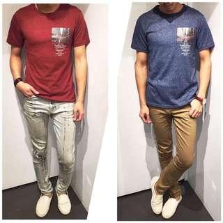 「免運費」《穿搭空間》花布韓版照片造型短袖t shirt(兩色)
