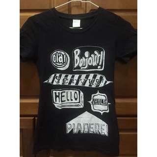 Galoop黑色T-shirt