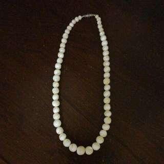 天然珍珠貝項鍊,買到沒戴過,含運