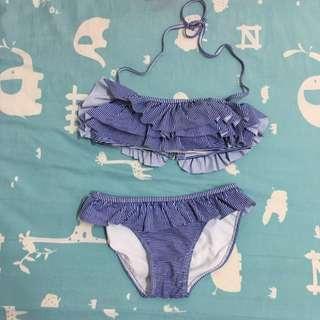 (保留中)藍紫色 條紋 比基尼 Bikini