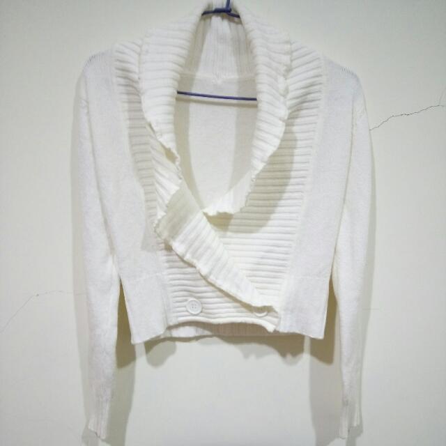 純白毛線外套