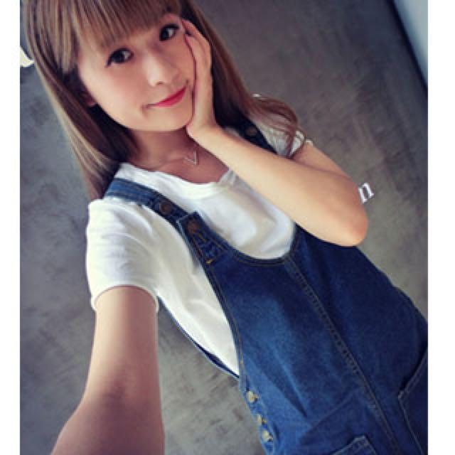 韓版口袋吊帶裙