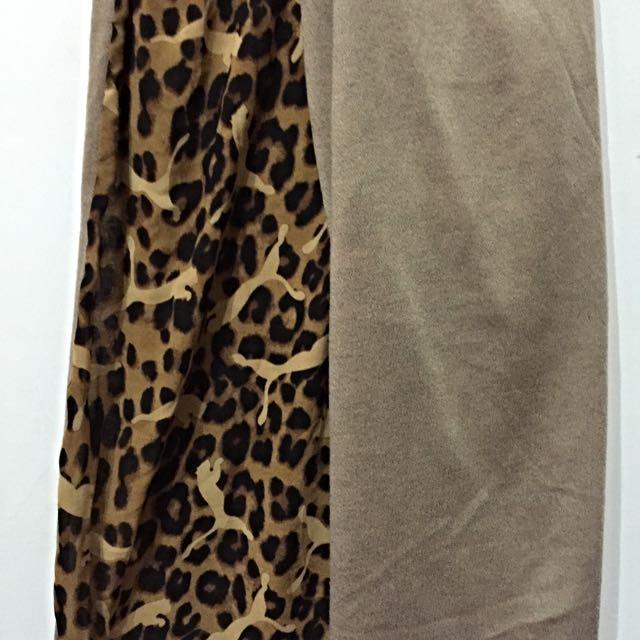 豹紋雙面圍巾