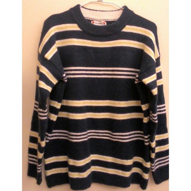 軟質條紋毛衣