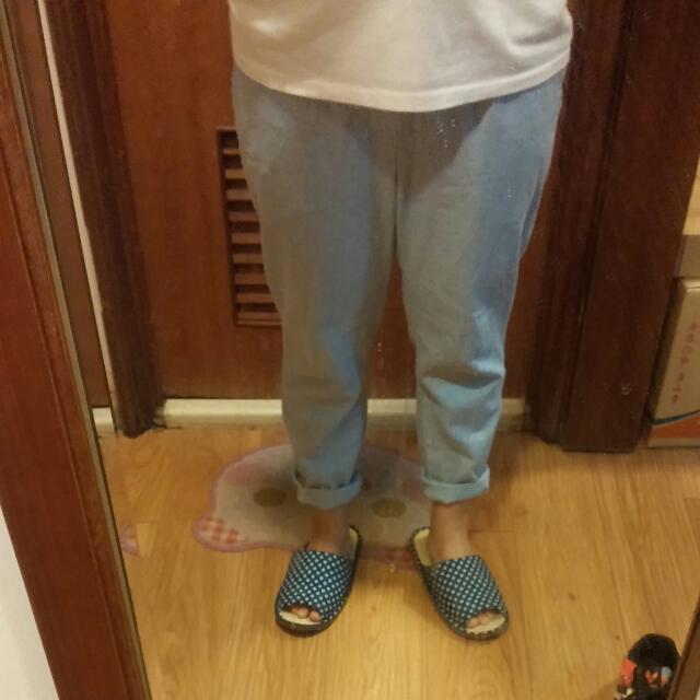 淺藍色老爺褲(保留)