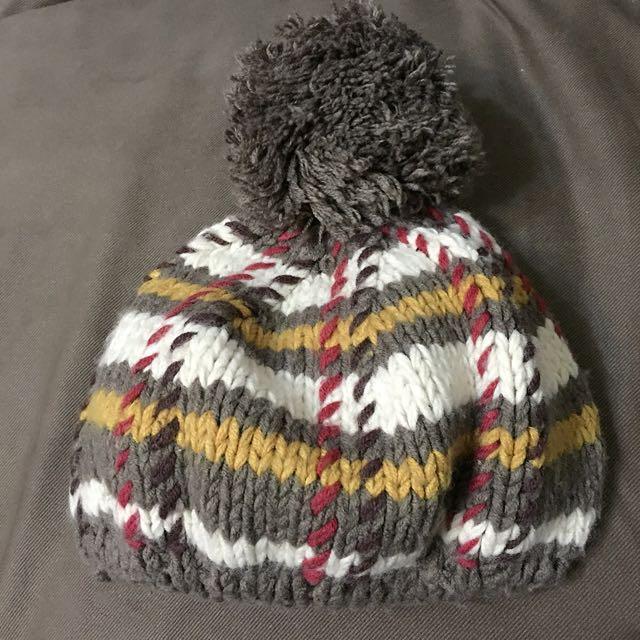 歐美日式小清新文青百搭街頭款可愛球球毛線帽