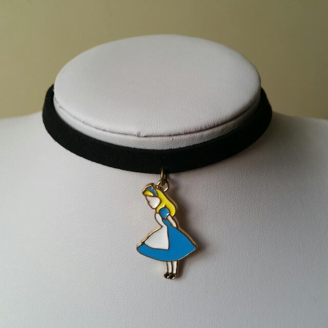 手作 愛麗絲 韓國絨 頸鍊