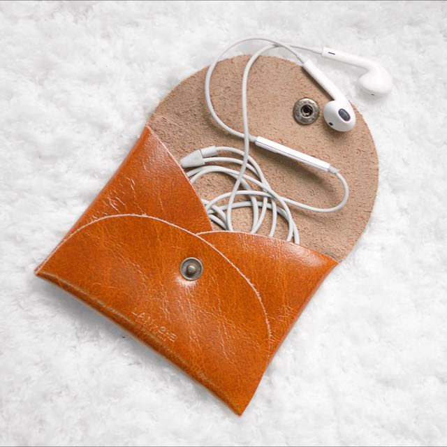 匠工手作⚒ 牛皮小零錢包 🐂 率性簡約(耳機 車票 名片 發票的隨身小收納)