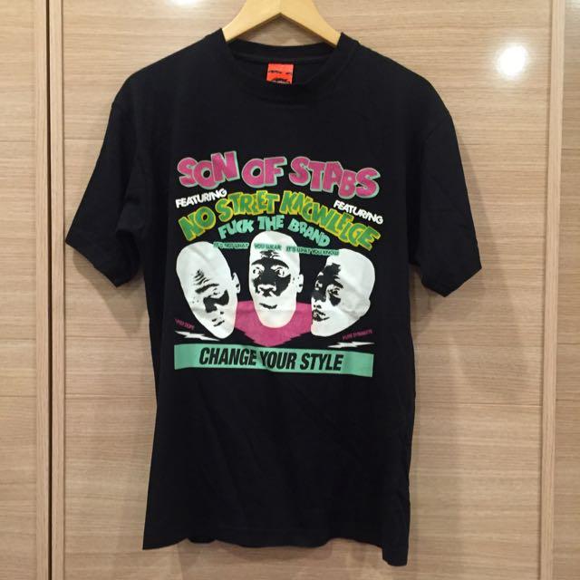 🔸二手🔹STABS 新加坡潮牌 男黑色街頭短袖T恤 上衣