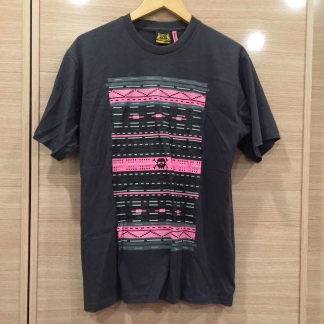 🔸二手🔹台灣自創品牌Pigsty 男短袖T恤 上衣 深灰 尺寸L