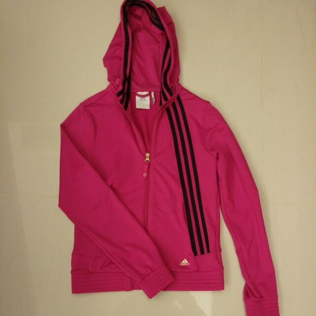 Adidas 運動外套 桃紅