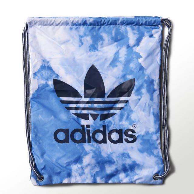 Adidas Originals GYMSACK CLOUDS 藍白 藍天白雲 束口袋 拉鍊 防水 後背包
