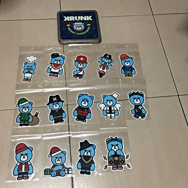 BIGBANG KRUNK熊貼紙