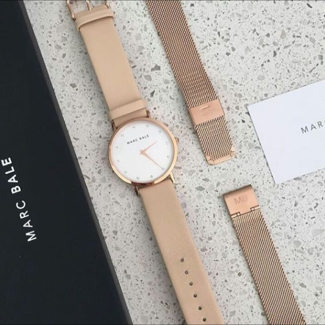 Brand New Marc Bale Rose Gold Watch