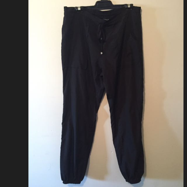 CHARLIE BROWN Size 12 Black Drawstring Pants