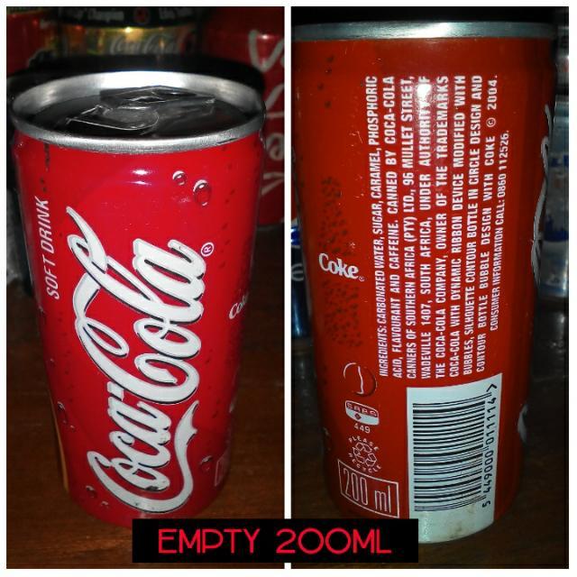 coke SAF (empty can)
