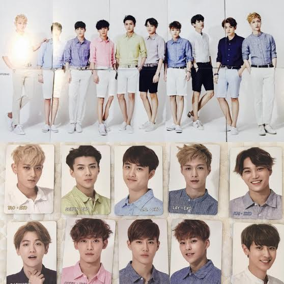 EXO Official Yes Cards