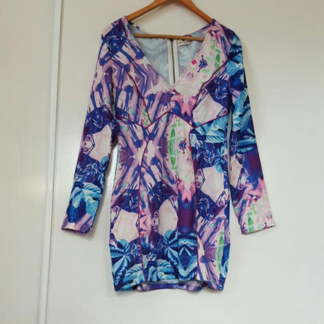 Floral Long Sleeve Dress Size 12