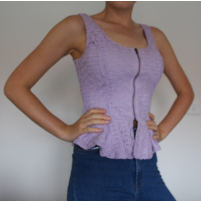 Lilac Peplum Top
