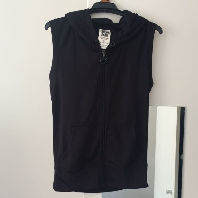 Lorna Jane Sleeveless Zip Up Hoodies - Size Small