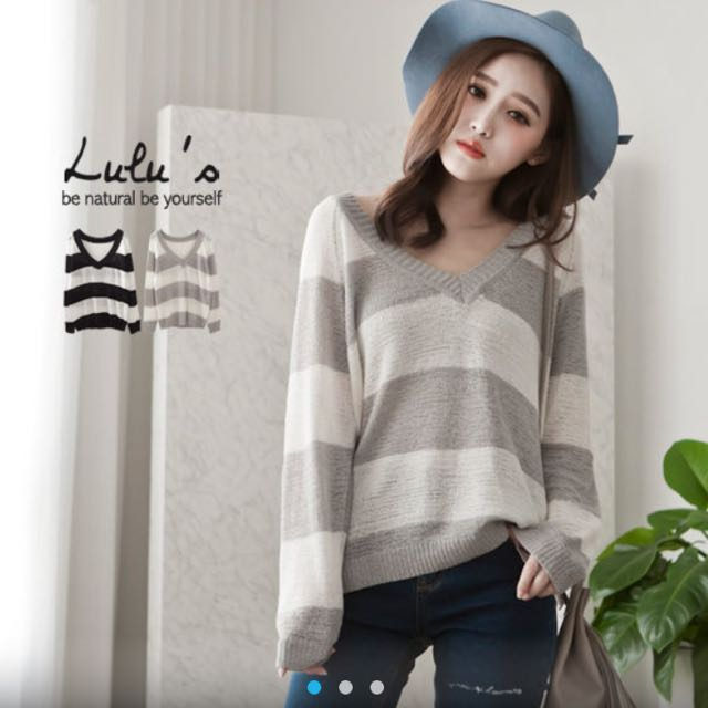 LuLu's灰白針織衣