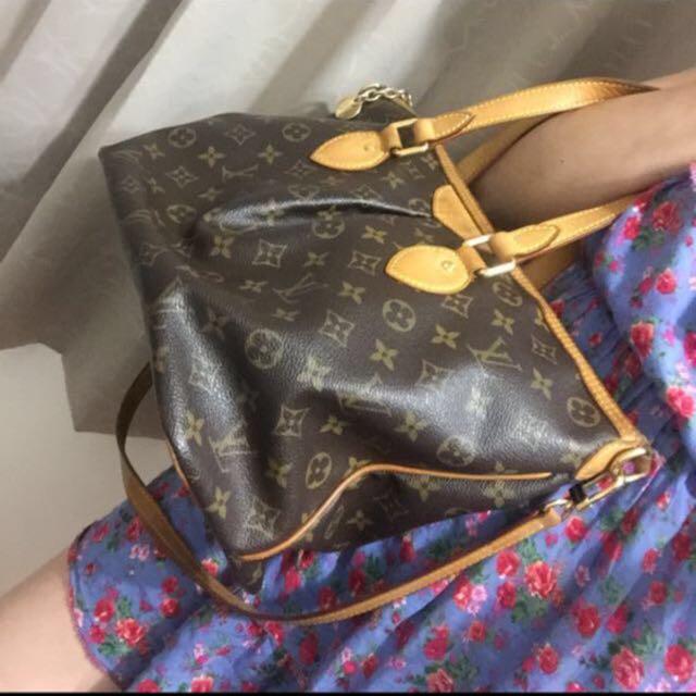 LV手提袋 時尚斜背包。正品