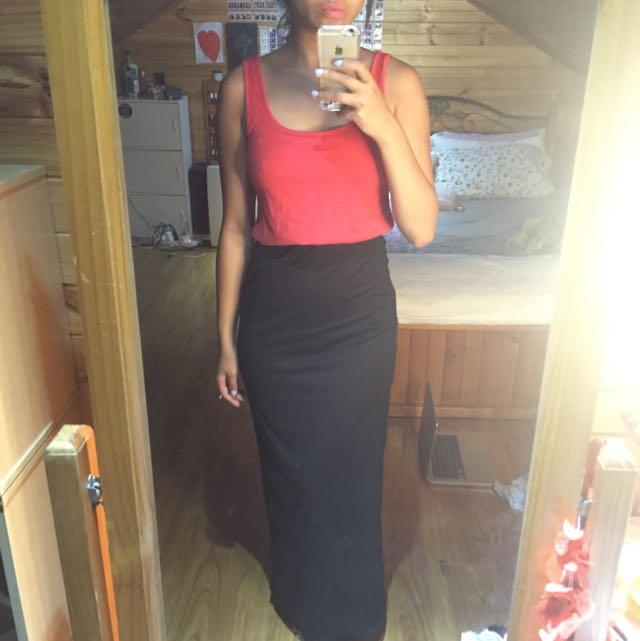 Pink & Black Size 8 Maxi Dress