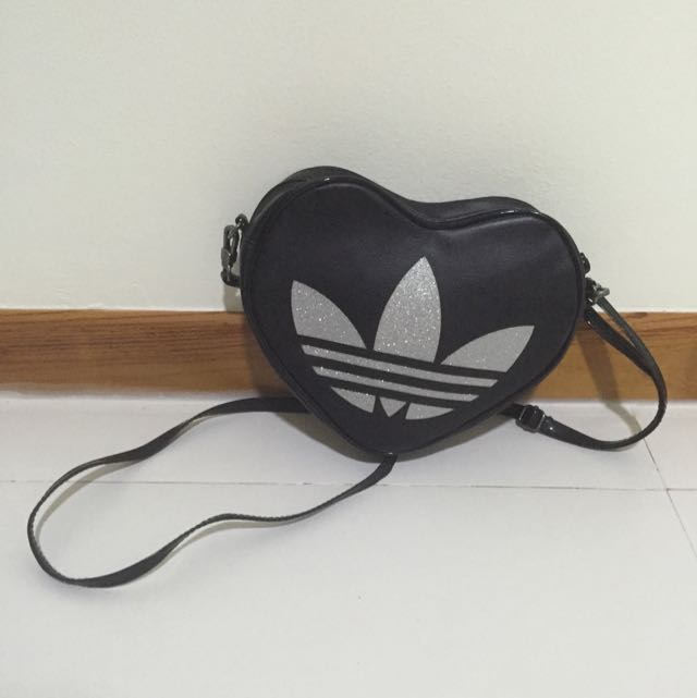 a2515654f94e ❤️preloved❤ adidas heart-shaped sling bag  authentic