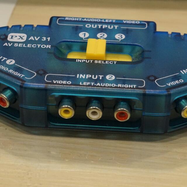 PX大通影音切換器1分3。AV 31
