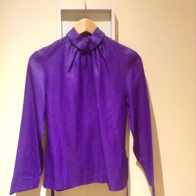 Rad 80's Vibrant Purple Blouse | sml