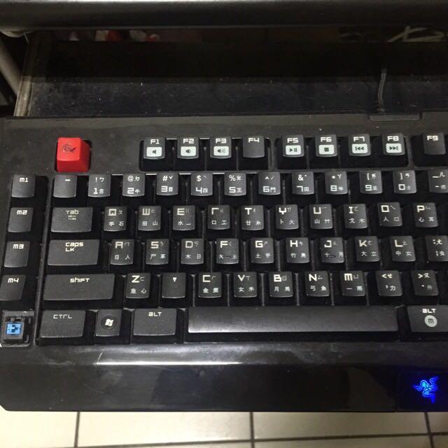 Razer雷蛇 黑寡婦 機械式鍵盤 青軸,7成新