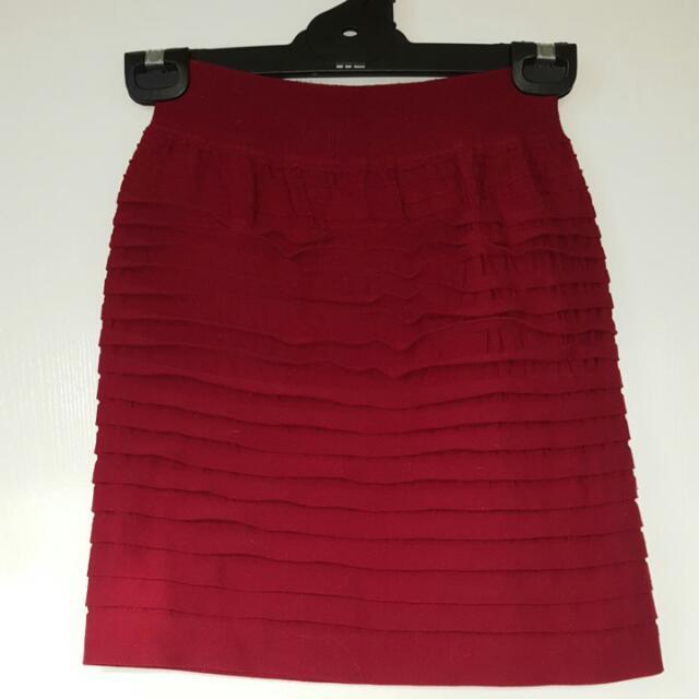 Ruffled Pencil Skirt XS/6