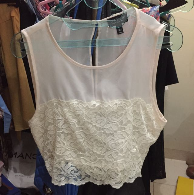 Top Shop cropped top size US 8