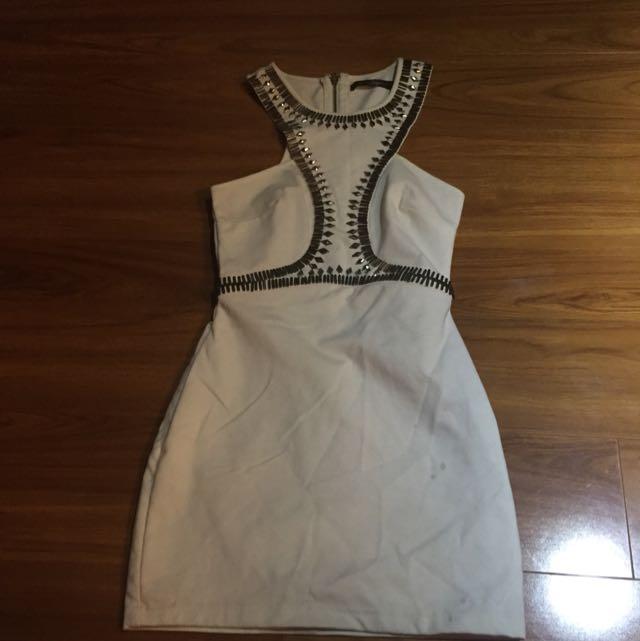 White Embellished Size 8 Dress